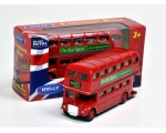 Welly London Double Decker Bus 7cm long x 5cm tall