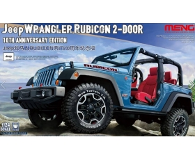 Meng Model JEEP WRANGLER RUBICON 2-DOORS 10th Anniversary Ed. 1/24