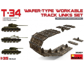 MiniArt T-34 WAFER-TYPE WORKABLE TRACK LINKS SET 1/35