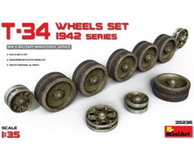 MiniArt T-34 Wheels Set. 1942 Series 1/35
