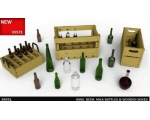 MiniArt Wine, Beer, Milk Bottles & Wooden Boxes ..