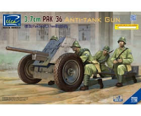 Riich Model 3.7cm PaK 36 Anti-Tank Gun Tank x 2 with metal gun barrel 1/35