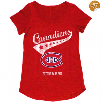 Montreal Canadiens Maternity Future Habs Fan Vintage T-shirt