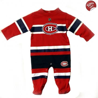 low priced c4fe8 02116 Montreal Canadiens Reebok kids sleeper
