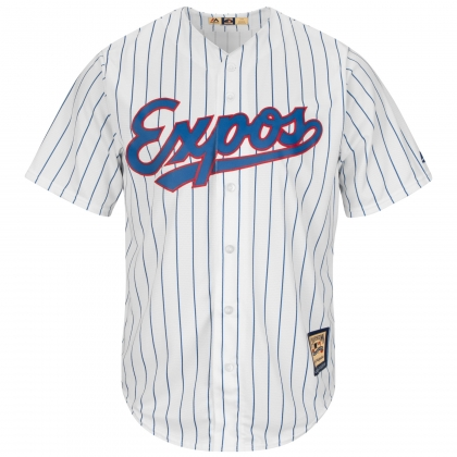 Majestic Montreal Expos MLB Cooperstown 1982 Pinstripe Jersey