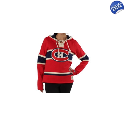 Women's Lace Jersey Hoodie Old Time Hockey Montreal Canadiens