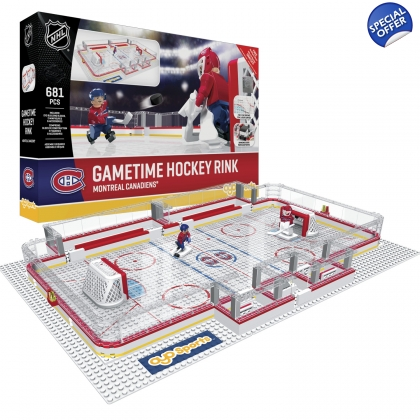 OYO Sportstoys NHL Gametime Full Hockey Rink  Montreal Canadiens