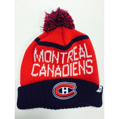 Montreal Canadiens '47 Brand Red Pom Cuffed Winter Hat