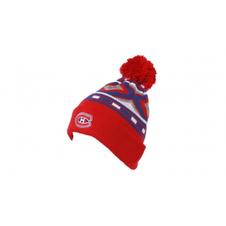 Youth Pom Cuff Toque Montreal Canadiens