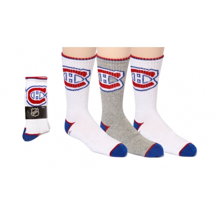 Youth Crew Socks 3 Pairs Montreal Canadiens