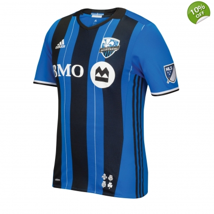 Montreal Impact 2017 Authentic Home Adidas MLS Jersey Soccer