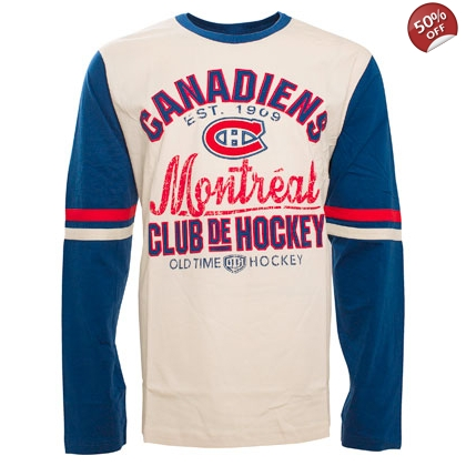 Montreal Canadiens Old time Hockey Chisel Long Sleeve T-shirt