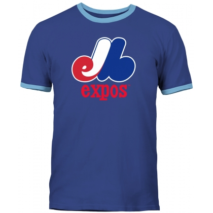 Montreal Expos Cooperstown Ringer Navy T-shirt