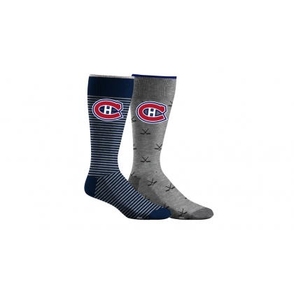 Mens Dress Socks 2 Pairs Montreal Canadiens