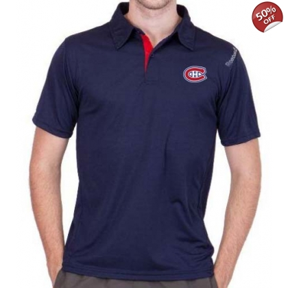 Reebok Montreal Canadiens Center Ice Polo Golf Shirt