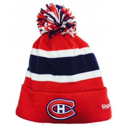 Montreal Canadiens Reebok Fleece Lined Cuffed Pom Knit