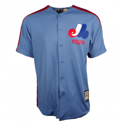 Montreal Expos MLB Men's Columbia Blue Cooperstown Replica Jersey