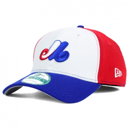Montreal Expos New Era 9FORTY Tricolor Pinch Hitter Adjustable Cap