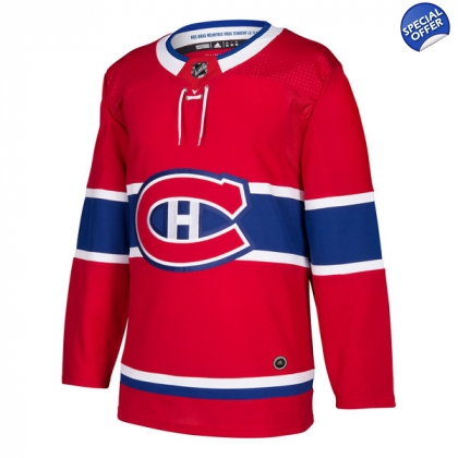 info for 19aeb 8bc65 Montreal Canadiens Adidas Authentic Home NHL Hockey Jersey