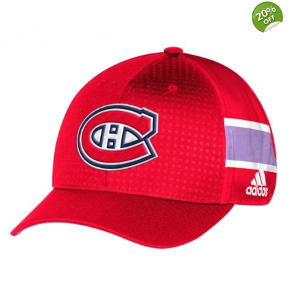 Hockey Fights Cancer Hat Montreal Canadiens Adidas 2017 2018