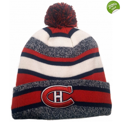Montreal Canadiens CCM Cuffed Pom Knit Vintage Hat