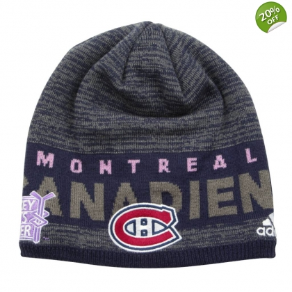 Hockey Fights Cancer Beanie Touque Montreal Canadiens Adidas 2017 2018