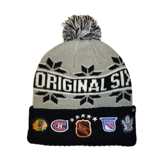 Original 6 Cuffed Pom Knit Hat 47 Bran..