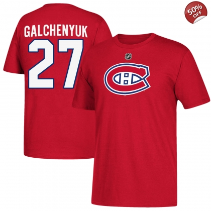 Youth Alex Galchenyuk 27 Montreal Canadiens T Shirt Red