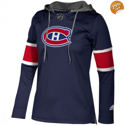 Women's Montreal Canadiens Adidas Jersey Crewdie Pullover Hood