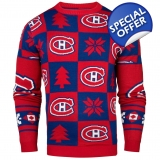 Montreal Canadiens NHL Patches Ugly Cr..