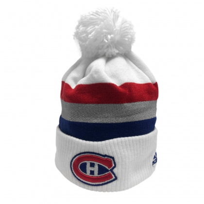 NHL 100 Classic 2017 Montreal Canadiens Goalie Cuffed Pom Knit