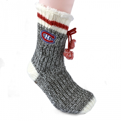 Women's Montreal Canadiens Sherpa Slipper Socks
