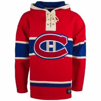Montreal Canadiens Heavyweight Home Lace Hoodie Jersey 47 Brand