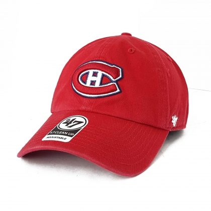 Montreal Canadiens NHL Clean Up Cap Red Adjustable Hat 47 Brand