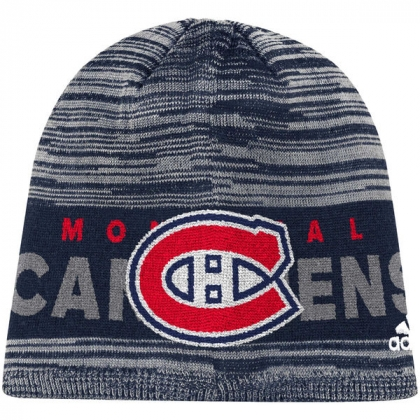 Montreal Canadiens adidas Navy On Ice Beanie Hat