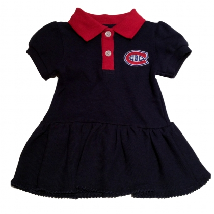 Montreal Canadiens Girls Polo Dress 2 Piece Set Navy