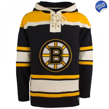 Old Time Hockey Boston Bruins Heavyweight Home Lace Hoodie 244cf7fdc