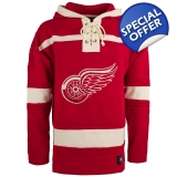 Detroit Red Wings Royal 47 Brand Lace ..
