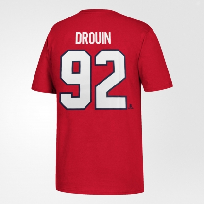 Youth Jonathan Drouin 92 Montreal Canadiens Red T-Shirt