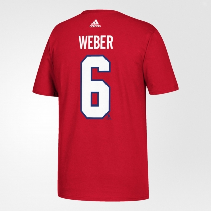 Shea Weber 6 Montreal Canadiens Adidas Red T Shirt