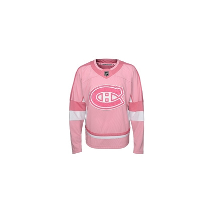 Youth Girls NHL Montreal Canadiens Pink Jersey