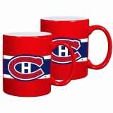 Montreal Canadiens Striped Ceramic Mug..