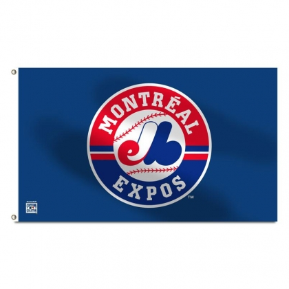 Montreal Expos MLB 3' x 5' Single Sided Banner Flag