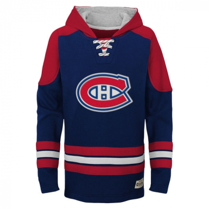 Youth Montreal Canadiens Navy Legendary Pullover Hoodie