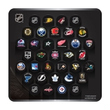 NHL Large Plaque with 31 Team Basic Lo..