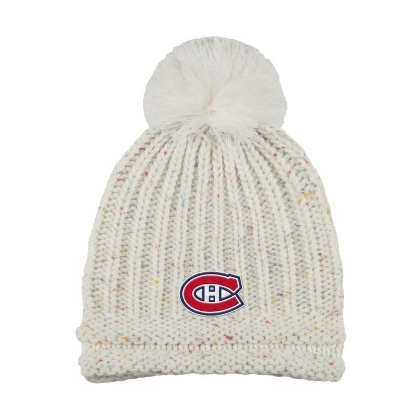 Women's Montreal Canadiens Beanie with Pom Adidas