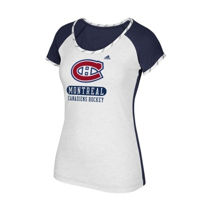 Women's Montreal Canadiens Adidas Constructed T-Shirt