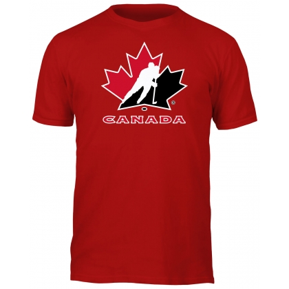 Team Canada Hockey Basic Logo Red T-Shirt