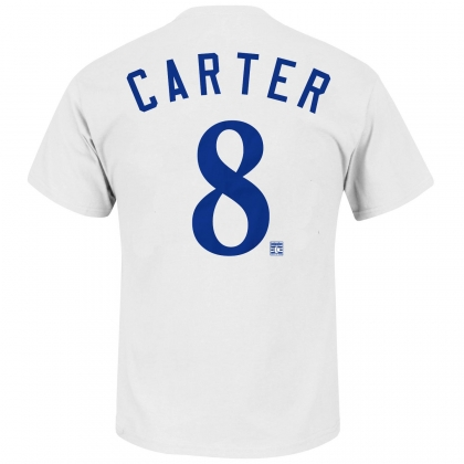 Gary Carter 8 Montreal Expos Cooperstown White T-Shirt