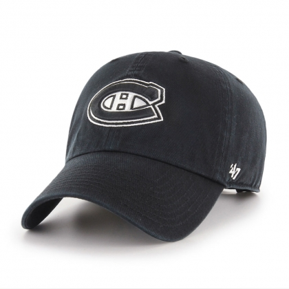 Montreal Canadiens Clean Up Adjustable Slouch Black 47 Brand